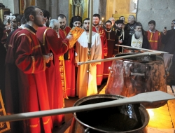 მირონის მოხარშვის უფლება მხოლოდ ავტოკეფალურ ეკლესიებს აქვთ