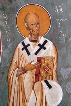 აღმოყვანება ნაწილთა წმიდისა ლაზარესი, ოთხთა დღეთა საფლავად მდებარისა (898) - 17 (30) ოქტომბერი