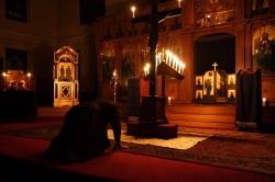 აღდგომიდან სულთმოფენობის დღესასწაულამდე დიდი მეტანია აღარ სრულდება