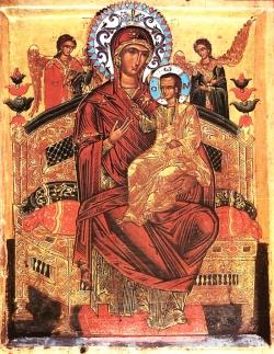 """ყოვლადწმიდა ღვთისმშობლის სასწაულთმოქმედი ხატი """"ყოველთა დედუფალი"""" პანტანასა სიმსივნით დაავადებულთა შემწე"""
