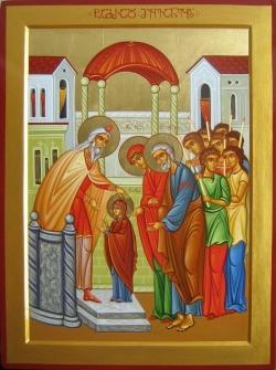 """ღვთისმშობლის ტაძრად მიყვანების დღესასწაული - """"მადლმა შვა-დედოფალი"""""""