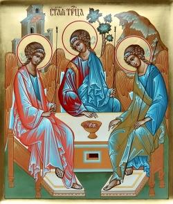 მამას, ძესა და სულიწმინდას ერთი ნება, ერთი უფლება და ერთი პატივი აქვთ
