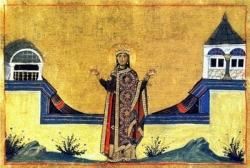 წმინდა თეოფანია დედოფალი  - ხსენება 16 (29) დეკემბერს