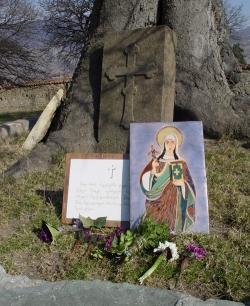 პირქვე დაამხო კერპთმსახურების სალოცავები და მათ ადგილას ქრისტეს ჯვარი აღმართა