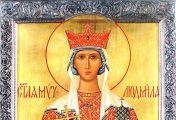 წმინდა მოწამე ლუდმილა, ჩეხეთის მთავარი (+927)–ხსენება 16 (29) სექტემბერს.