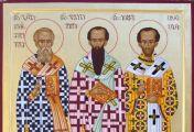 წმიდა ბასილი დიდი, გრიგოლ ღვთისმეტყველი და იოანე ოქროპირი