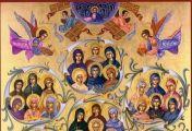 40 ქალწულმოწამე და მოწესენი, მმარხველნი, რომელნი იყვნეს ერთსა მონასტერსა შინა: პროკოპია, პავლა, იუნილა, ამპლიანე, პერსი, პოლინიკა, მავრა, გრიგორია, კირია, ბასა, კალენიკა, ბარბარე, კირიაკია, აღათონიკე, იუსტა, ირინა, მატრონა, ტიმოთე, ტატიანა, ანა და მღვდელმ